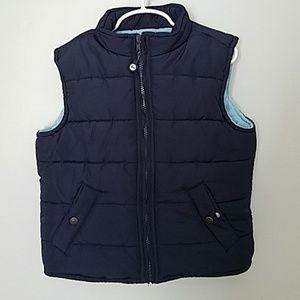 Boy's Janie & Jack Puffer Vest Blue Size 6